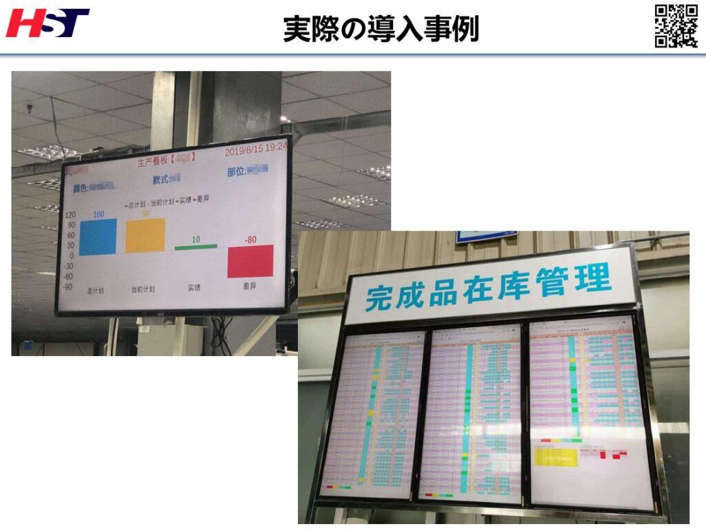 中国の製造現場で導入した電子カンバン
